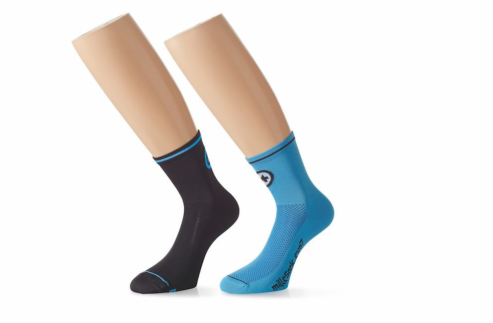 Носки Унисекс ASSOS milleSock_evo7 - 2 pairs calypso Blue / blackSeries